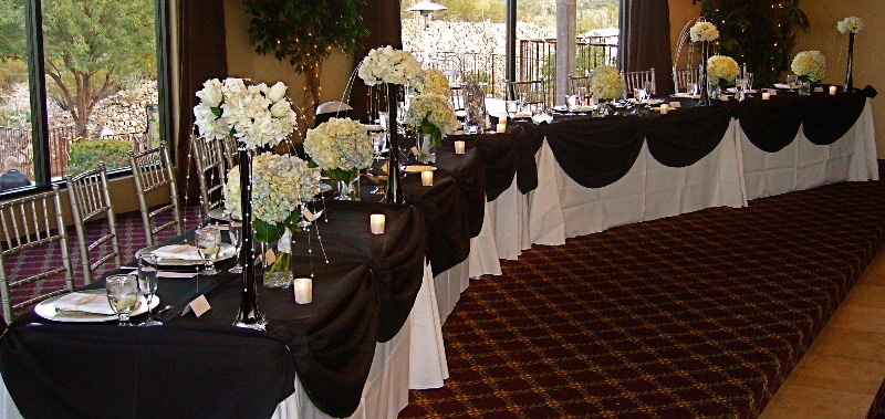 Black And White Wedding Reception Centerpieces Celebrity