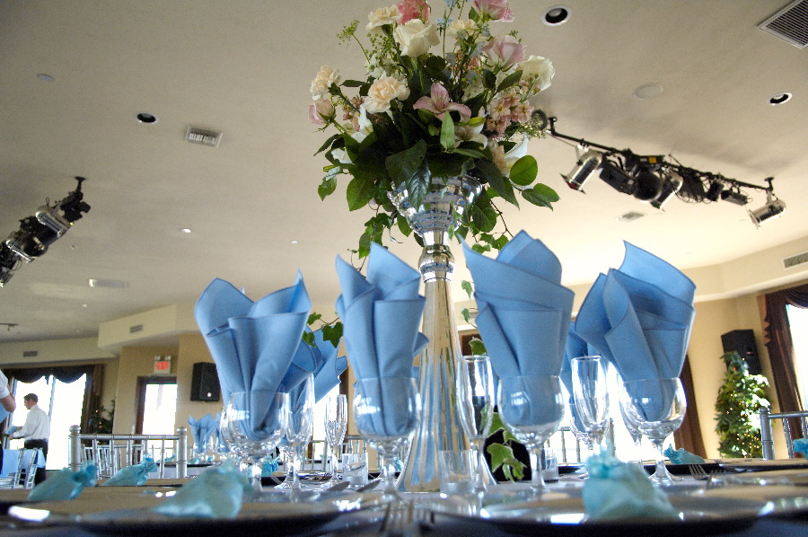 Elegant Table Setting with Tall Center Piece - My Tucson Wedding