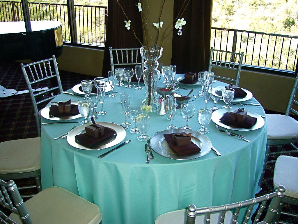 Ask a Question - Chocolate brown + Turquoise/Teal = Good wedding