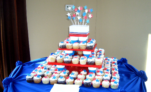 Cake Table for 4th of July