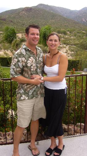 Dave and Debi at Saguaro Buttes