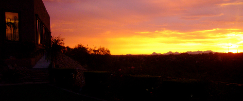 Another Beautiful Tucson Sunset at Saguaro Buttes