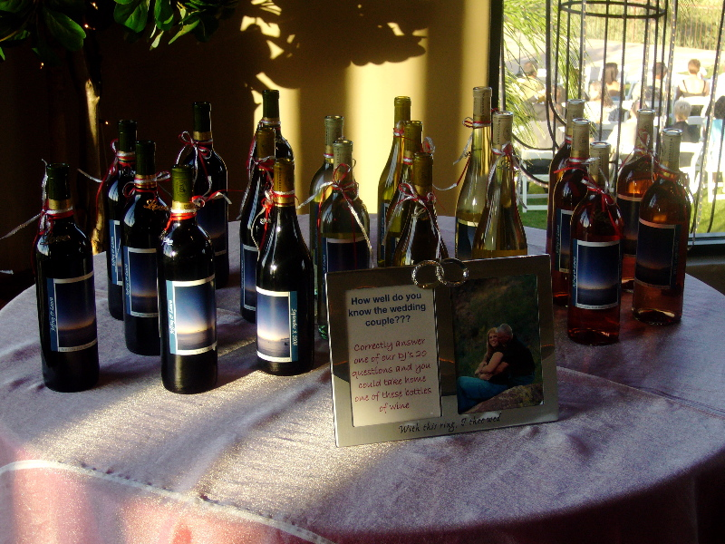 Wine Gift Table My Tucson Wedding