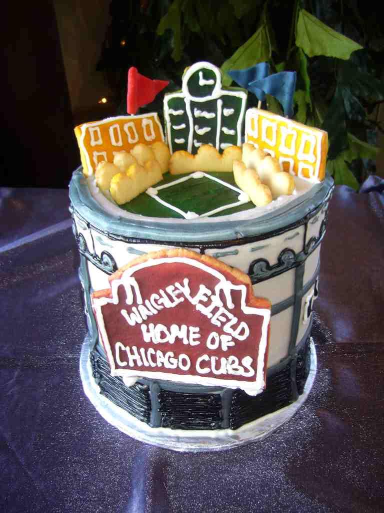 Chicago Cubs Wedding Cake