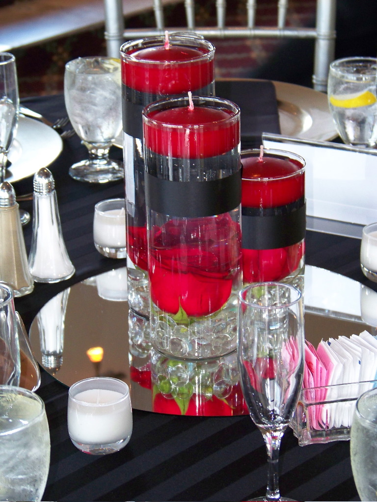 Red Rose Center Piece My Tucson Wedding