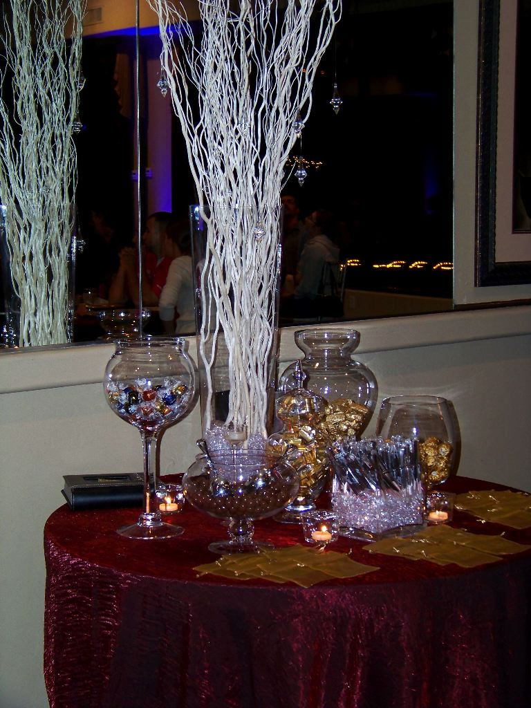 Candy table with class my tucson wedding sweet creations bakery put together this elegant and simple candy table they provide the linen the crystal glass vases and center piece decoration reviewsmspy