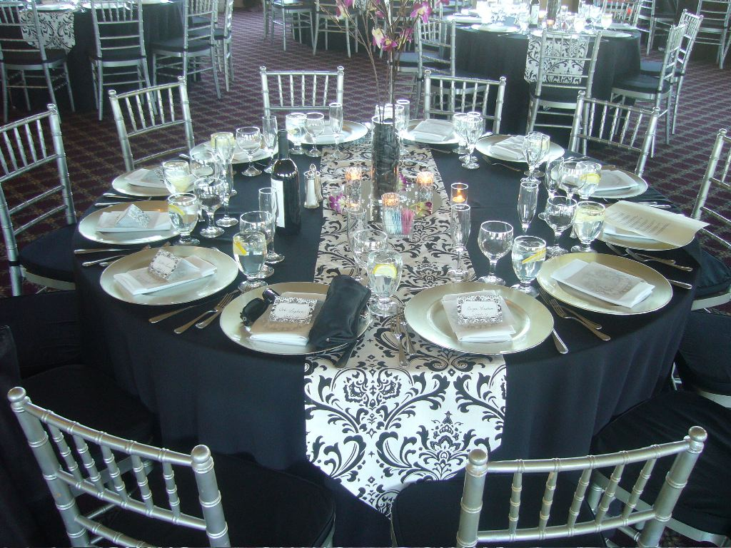 Elegant wedding table design my tucson wedding - Epic image of dining room decoration with various black and white table setting ideas ...