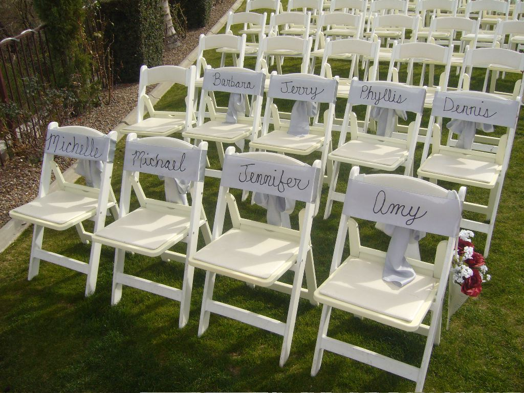 Wedding ceremony chair - Seat Assignments