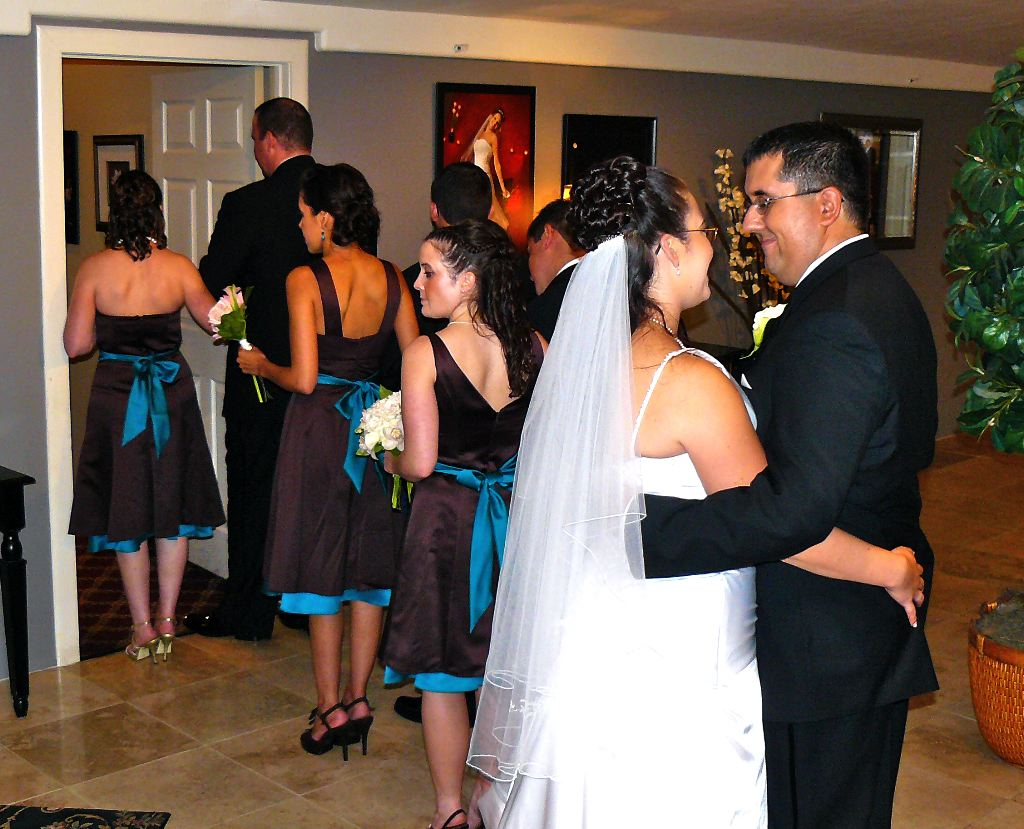 After The Ceremony And All Of Family Pictures Have Been Taken Wedding Party Is Usually Lined Up Followed By Bride Groom