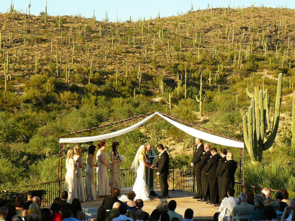 It S An Awesome Southern Arizona Experience Tucson Wedding Ceremony