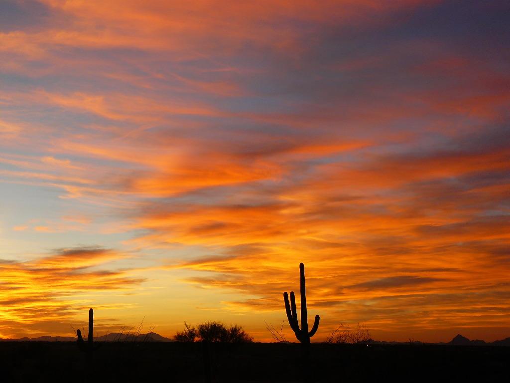 December Sunset In Tucson My Tucson Wedding