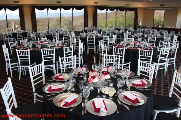 Black, White and Red Wedding Colors