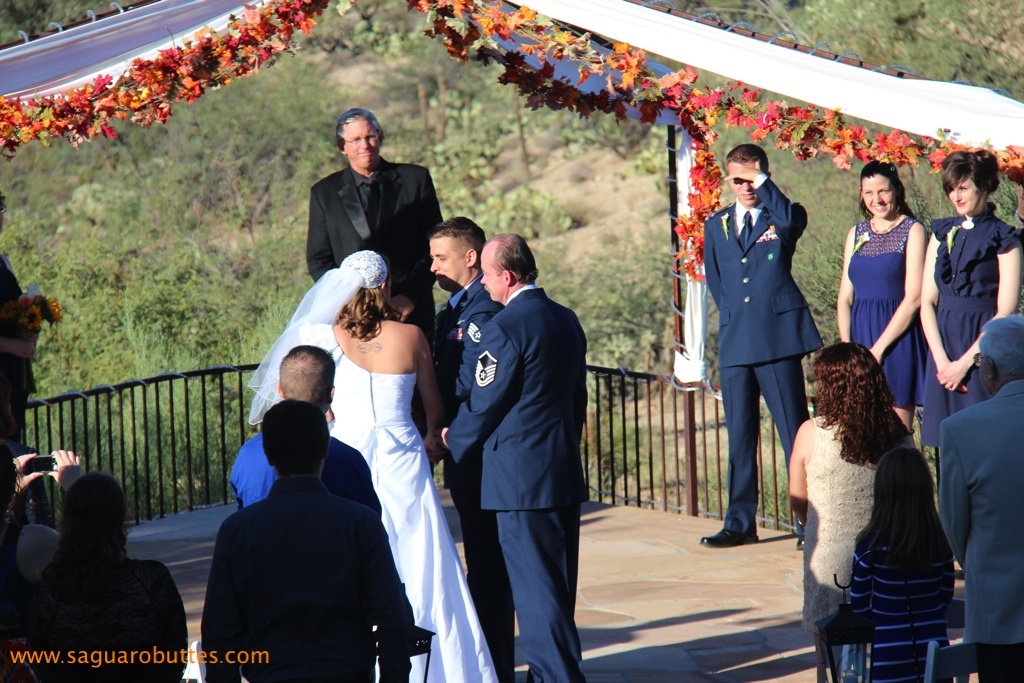 Military Wedding Ceremony in Air Force Blues - My Tucson Wedding