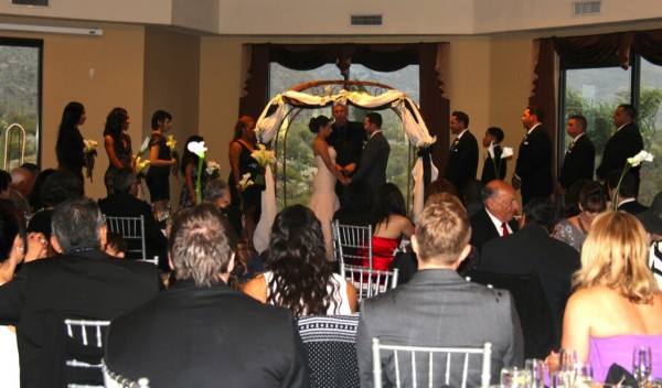Inside Wedding at Saguaro Buttes