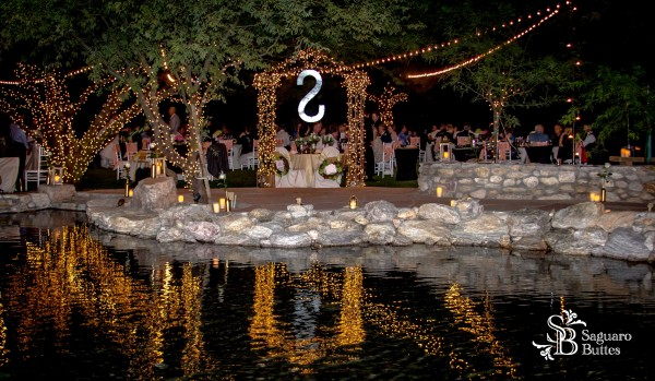 Outdoor Reception by the Reflecting Pond