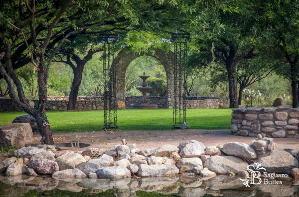New Arch by the Reflecting Pond.