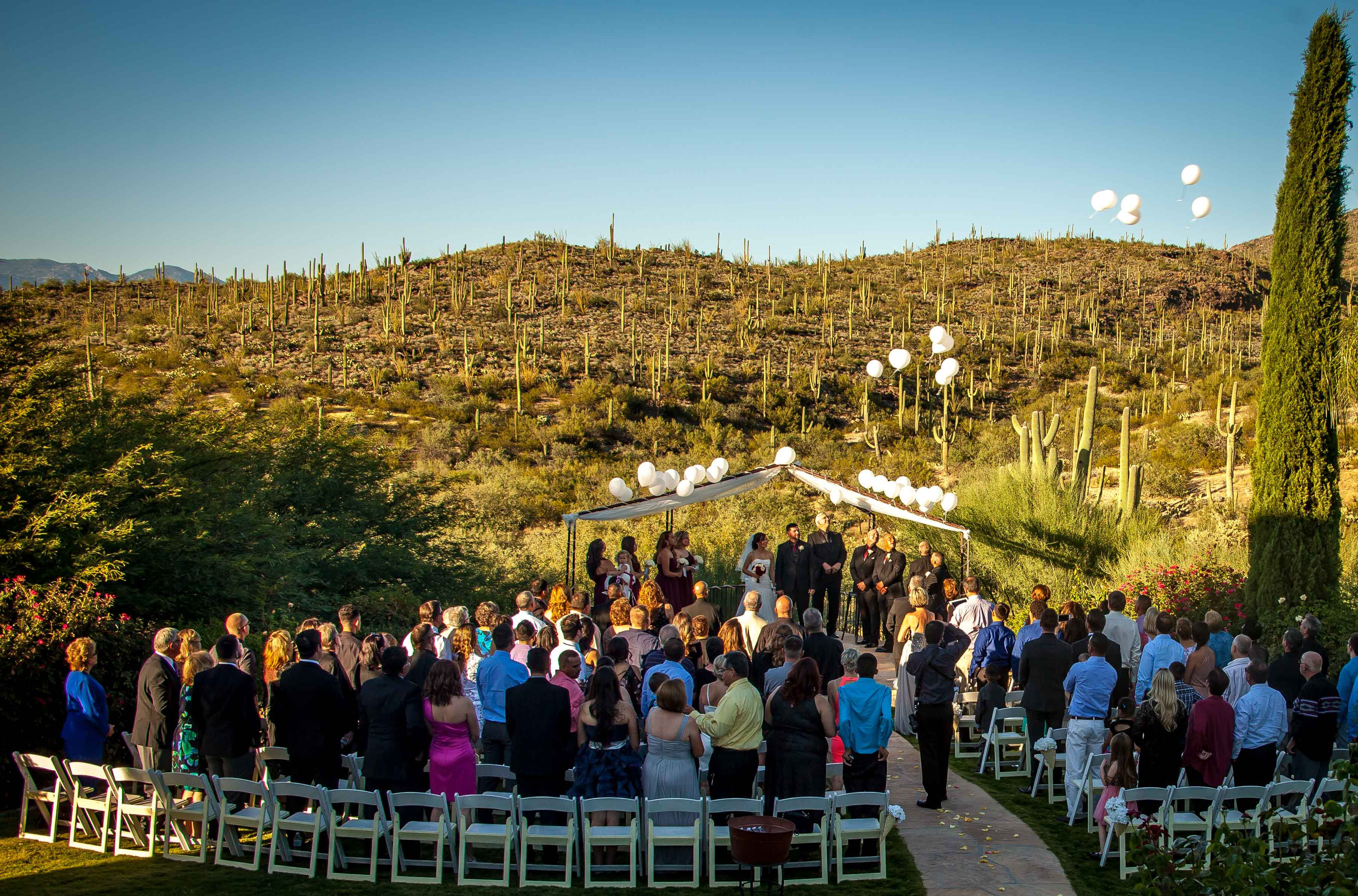 Balloon Release Wedding Saguaro Buttes Style